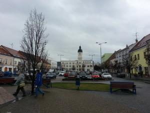 Kyjov town square