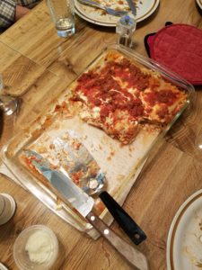 Mom's best lasagne, after I got my hands on it!